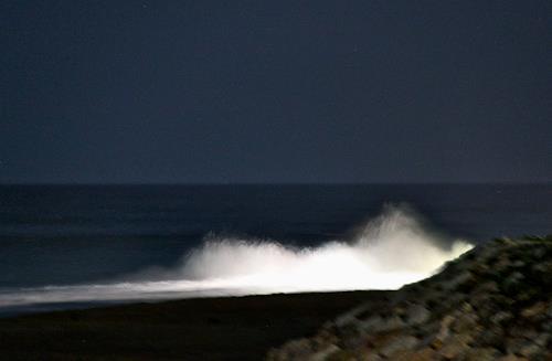 Agnes Abplanalp, Night Wave, Landschaft: See/Meer, Natur: Wasser, Expressionismus