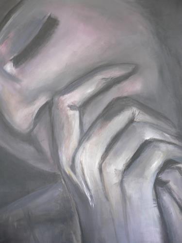 Agnes Abplanalp, Woman in the Dark, Menschen: Frau, Menschen: Gesichter, Gegenwartskunst, Expressionismus