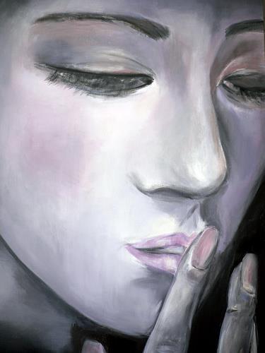 Agnes Abplanalp, Whispers, Menschen: Frau, Menschen: Gesichter, Gegenwartskunst, Expressionismus