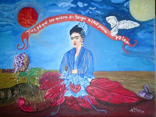 Virgy, Homage to  Frida kahlo, Diverses, Symbol, Postsurrealismus