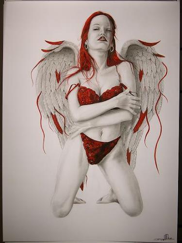 erotische fantasie umarmung zeichnung