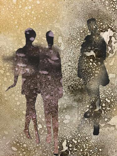 Mirta Benavente, Seres agujereados 7, Abstraktes, Abstraktes, Konzeptkunst, Expressionismus