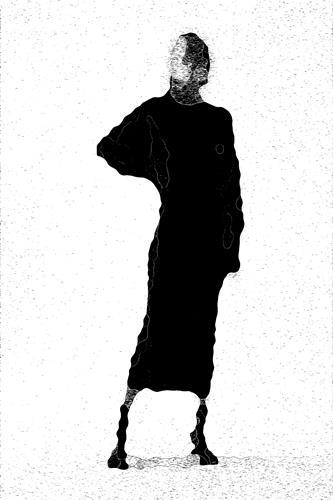 Mirta Benavente, Seres Contemporáneos 8, Menschen, Konzeptkunst, Abstrakter Expressionismus