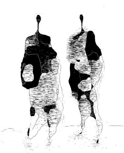 Mirta Benavente, Seres Contemporáneos 34, Menschen, Menschen: Gruppe, Gegenwartskunst, Abstrakter Expressionismus