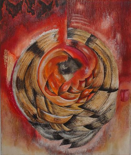 Mirta Benavente, Abs18, Abstraktes, Dekoratives, Neo-Expressionismus