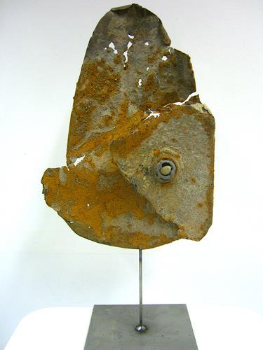 inari, Stahl mit Stein, Dekoratives, Gegenwartskunst, Expressionismus