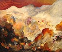Sara-Diciero-Abstraktes-Landschaft-Berge-Gegenwartskunst--Gegenwartskunst-