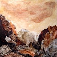 Sara-Diciero-Abstraktes-Landschaft-Berge-Moderne-Abstrakte-Kunst