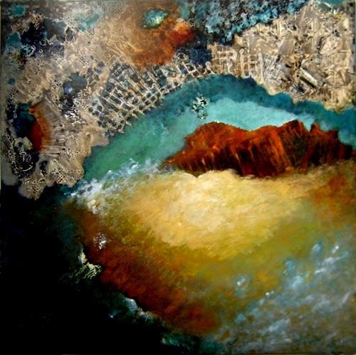 Sara Diciero, Llena de misterio, Abstraktes, Fantasie, Abstrakter Expressionismus