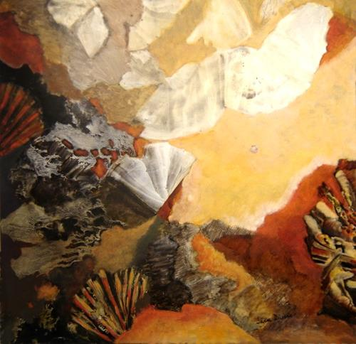Sara Diciero, Agitando esperanzas, Abstraktes, Landschaft: Hügel, Abstrakter Expressionismus