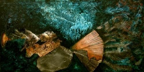 Sara Diciero, Serenidad, Abstraktes, Landschaft: See/Meer, Abstrakter Expressionismus