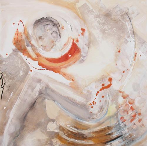 Andrea Finck, Hurry up, Abstraktes, Menschen: Frau, Gegenwartskunst