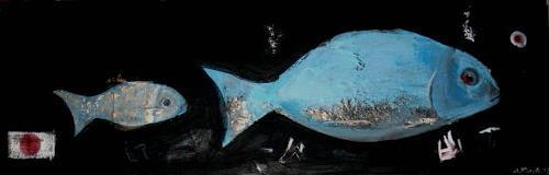Andrea Finck, Fukushima, Natur: Wasser, Tiere: Wasser, Gegenwartskunst, Abstrakter Expressionismus