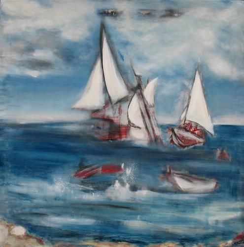 Andrea Finck, Sansibar, Natur: Wasser, Bewegung, Gegenwartskunst