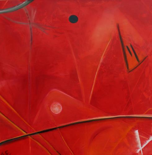 Andrea Finck, Yin Yang, Abstraktes, Gegenwartskunst