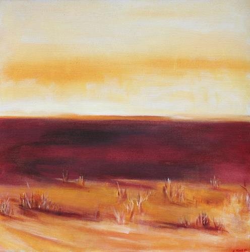 Andrea Finck, Wüstensteppe, Landschaft: Ebene, Diverses, Gegenwartskunst