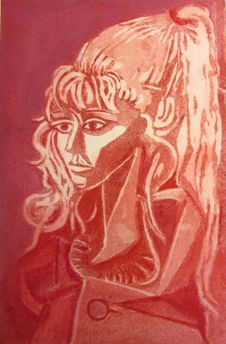 Andrea Finck, Sylvette, nach Picasso, Menschen: Frau, Menschen: Porträt, Kubismus