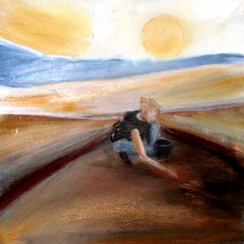 Andrea Finck, Im Suchschnitt, Diverses, Landschaft, Spurensicherung, Expressionismus