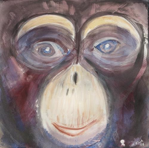 Andrea Finck, Monkey, Tiere: Land, Tiere, Gegenwartskunst