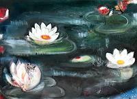 Andrea-Finck-Pflanzen-Blumen-Natur-Wasser-Moderne-Impressionismus