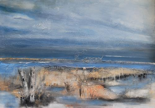 Andrea Finck, Wiedervernässung, Natur, Landschaft: Sommer, Gegenwartskunst, Expressionismus