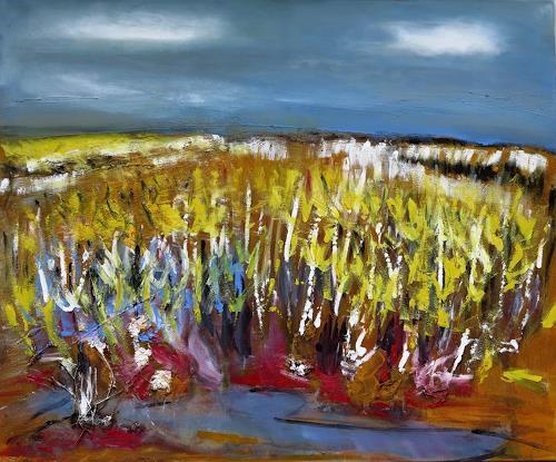 Andrea Finck, Sommerlandschaft II, Landschaft: Sommer, Abstraktes, Gegenwartskunst, Expressionismus