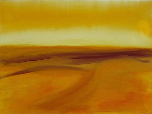 Andrea Finck, Wüstenlandschaft, Landschaft: Sommer, Natur: Diverse, Gegenwartskunst, Expressionismus