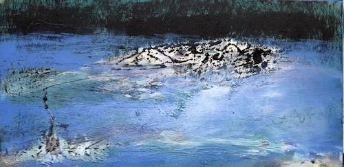 Andrea Finck, Fishing, Natur: Wasser, Landschaft: See/Meer, Abstrakte Kunst, Abstrakter Expressionismus