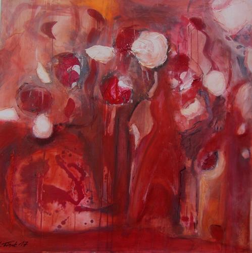 Andrea Finck, Red Mystery, Diverse Landschaften, Poesie, Gegenwartskunst, Abstrakter Expressionismus