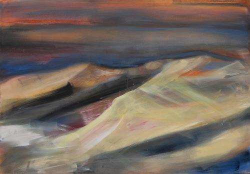 Andrea Finck, Sahara, Landschaft, Natur: Erde, Gegenwartskunst, Expressionismus