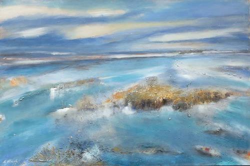 Andrea Finck, Terra australis, Landschaft: See/Meer, Landschaft: Sommer, Gegenwartskunst, Expressionismus