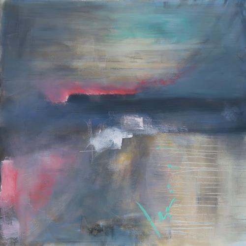 Andrea Finck, Alpenglühen, Diverse Landschaften, Abstraktes, Gegenwartskunst, Expressionismus
