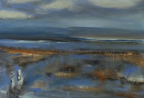 Andrea Finck, Küstenlandschaft, Landschaft: See/Meer, Natur: Wasser, Gegenwartskunst