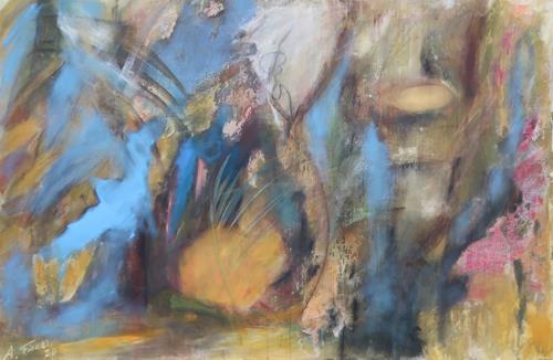 Andrea Finck, Down under, Natur: Wasser, Landschaft: See/Meer, Abstrakte Kunst, Expressionismus