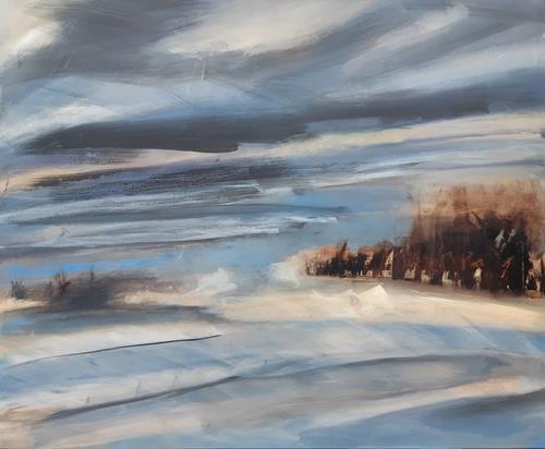 Andrea Finck, Rungholt, Landschaft, Natur: Wasser, Gegenwartskunst