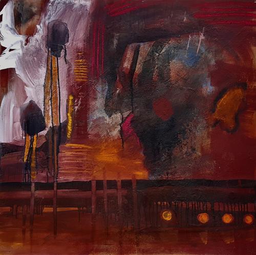 Andrea Finck, Ohne Titel, Abstraktes, Gegenwartskunst, Abstrakter Expressionismus
