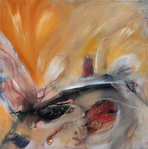 Andrea Finck, Yellow springtime, Abstraktes, Pflanzen, Gegenwartskunst, Expressionismus
