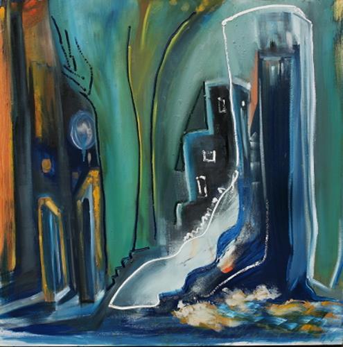 Andrea Finck, Frozen Italy, Architektur, Fantasie, Gegenwartskunst