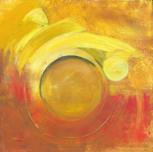 Andrea Finck, Auf`n Sprung, Abstraktes, Bewegung, Gegenwartskunst
