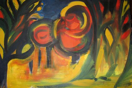 Andrea Finck, Fabelwald, Natur: Wald, Abstraktes, Expressionismus