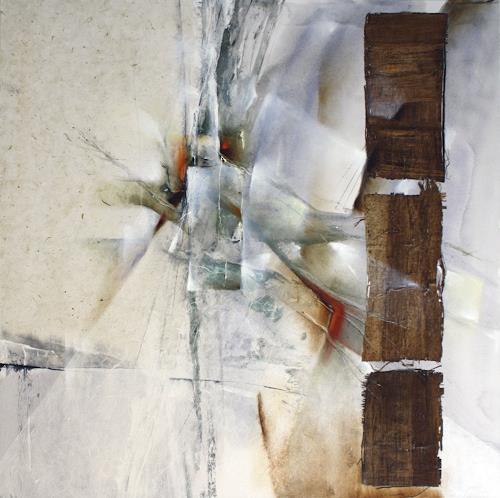 Annette Schmucker, Weiße Komposition II, Abstraktes, Gegenwartskunst, Expressionismus
