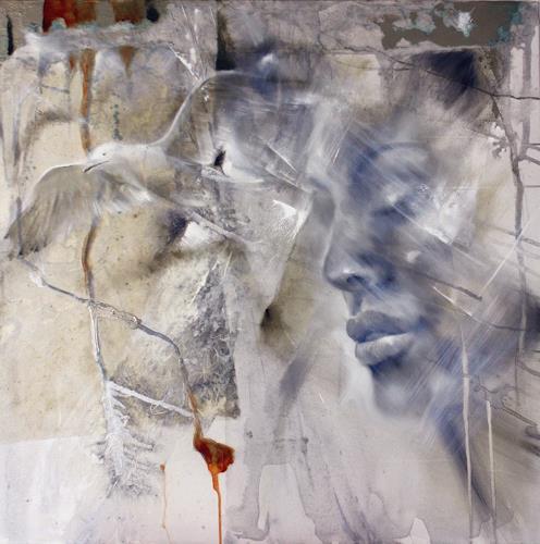 Annette Schmucker, Loslassen, Menschen: Gesichter, Diverse Gefühle, Gegenwartskunst, Expressionismus