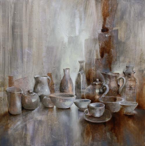 Annette Schmucker, Stillleben_, Essen, Stilleben, Gegenwartskunst, Expressionismus