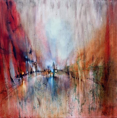 Annette Schmucker, Abstrakte Komposition, Werknummer 11-49, Abstraktes, Diverse Landschaften, Gegenwartskunst