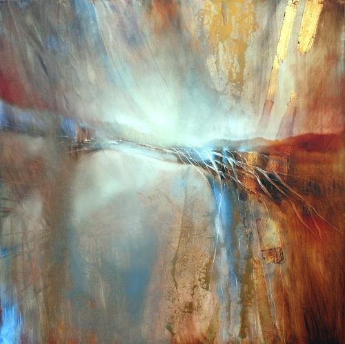 Annette Schmucker, Abstrakte Komposition, Werknummer 11-52, Abstraktes, Gegenwartskunst, Expressionismus