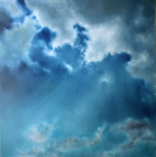 Annette Schmucker, Ein Stück vom Himmel, Werknummer 12-05, Gefühle: Freude, Diverse Landschaften, Gegenwartskunst, Expressionismus