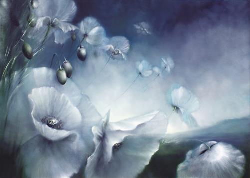Annette Schmucker, Touch the sky, Landschaft: Frühling, Pflanzen: Blumen, Gegenwartskunst, Expressionismus