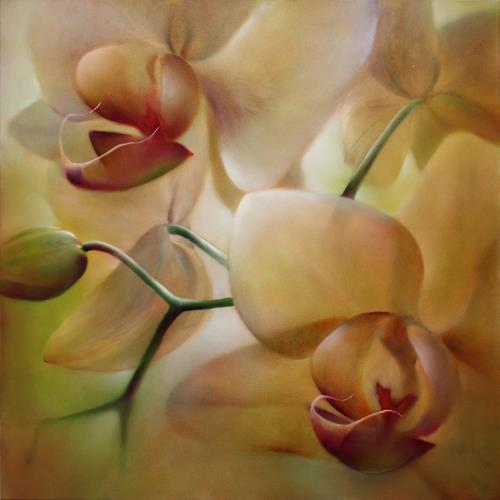 Annette Schmucker, Orchideen_, Natur: Diverse, Pflanzen: Blumen, Gegenwartskunst, Expressionismus