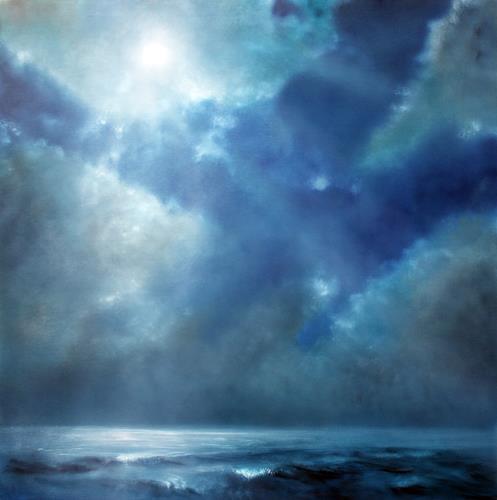Annette Schmucker, Veränderung, Landschaft: See/Meer, Diverse Gefühle, Gegenwartskunst, Expressionismus