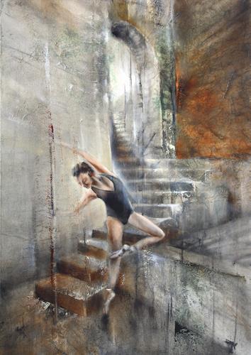 Annette Schmucker, Balance II, Bewegung, Menschen: Frau, Gegenwartskunst, Expressionismus